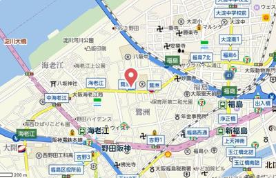 【地図】プランドール福島レジデンス