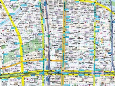【地図】ブリリアントジュネス本町