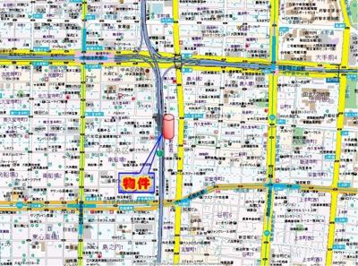 【地図】サムティ松屋町