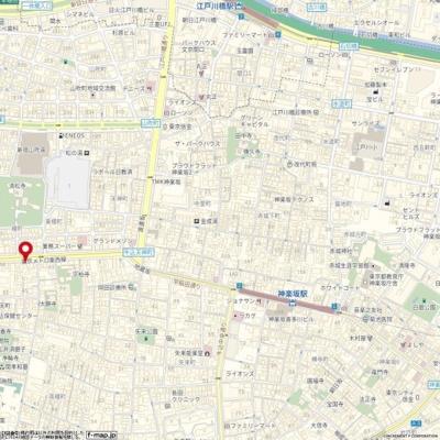 【地図】マンション神楽坂