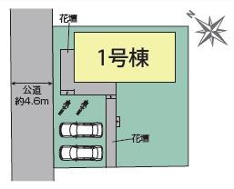 【区画図】ブルーミングガーデン赤坂