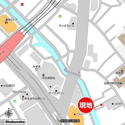 【地図】LEGALAND中目黒ANNEX