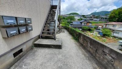 共用階段と集合ポスト