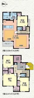 【間取り】茅ヶ崎市東海岸南1期 新築戸建 2号棟