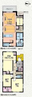 【間取り】茅ヶ崎市東海岸南1期 新築戸建 3号棟
