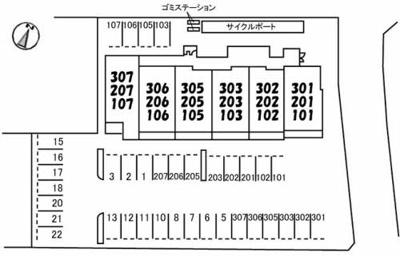 【区画図】ベレオ一ツ橋
