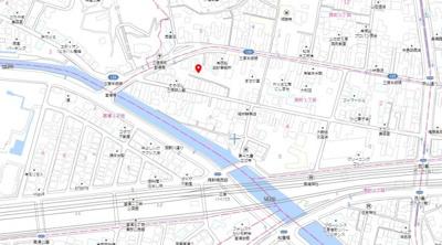 【地図】西町1丁目 売地