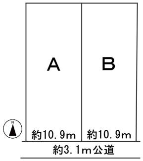 【区画図】56970 羽島郡笠松町長池分譲地