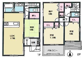 【2号地】宅配BOX付機能門柱!洗面台グレードアップ!食器洗乾燥機付!