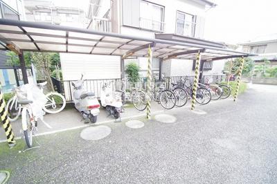 自転車置き場完備