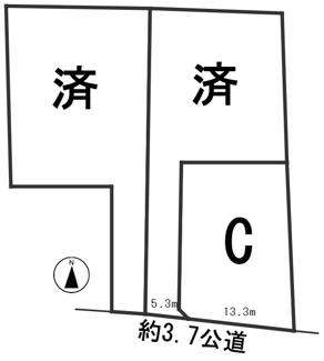 【区画図】56185 岐阜市小西郷字ハサマ分譲地