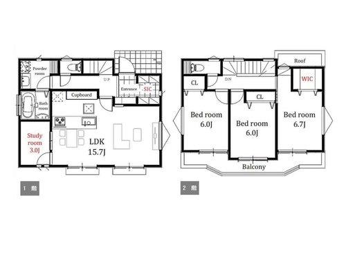 全居室2面採光のゆとりある4LDK