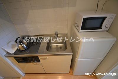 【キッチン】プレールドゥーク新宿
