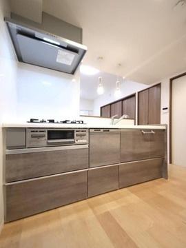 【キッチン】仲介手数料無料■コスモ両国グランシティ4階 角部屋 リノベーション済