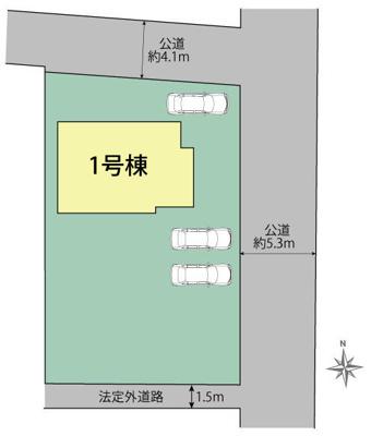【区画図】磐田市十郎島 新築一戸建て TE