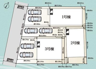 【区画図】静岡市葵区瀬名川2丁目 2期 新築一戸建て 1号棟 AN