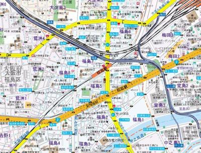 【地図】セイワパレス堂島シティ