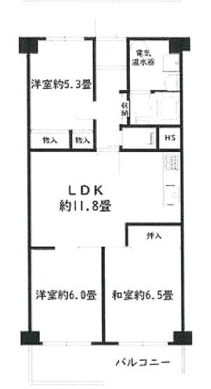 専有面積66.70平米、バルコニー面積7.9平米~2階南向き、日当たり良好、家族が集まるリビングが中心の間取設計の3LDK