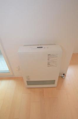 暖房はガスです。