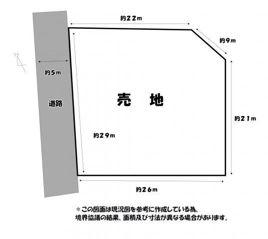 【土地図】倉永売地