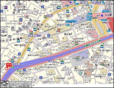 【地図】サンテミリオン渋谷道玄坂
