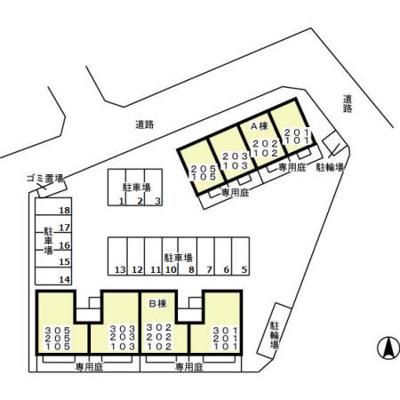 【区画図】セントラルパークハイツ A・B