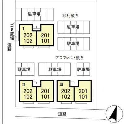 【区画図】シャルール Ⅰ・Ⅱ・Ⅲ