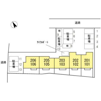 【区画図】エスポワール モモ