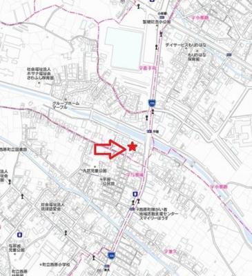 【地図】平園パーキング