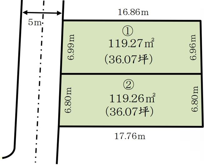【区画図】松戸市上本郷 全2棟