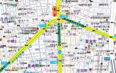【地図】ノルデンタワー天神橋アネックス