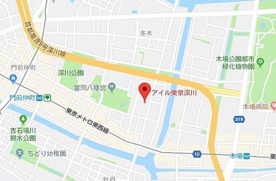 【地図】アイル東京深川