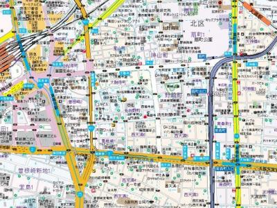 【地図】レジュールアッシュ梅田AXIA