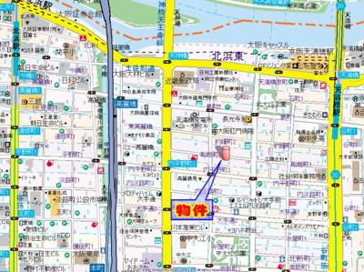 【地図】ファーストレジデンス天満橋
