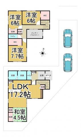 デザイン住宅「FIT」早良区梅林7丁目4期1号棟 4LDKオール電化住宅