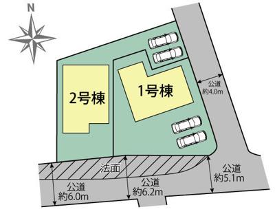 【区画図】[東折尾町)新築戸建