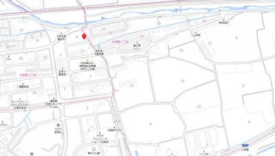 【地図】本郷南 新築戸建て