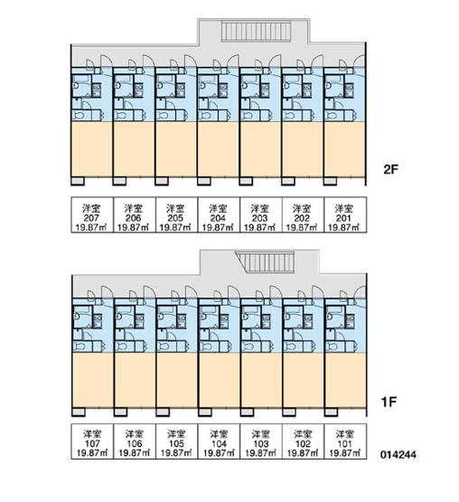 【区画図】レオパレスファンタジスタ