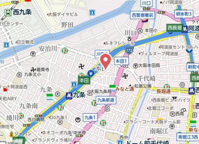 【地図】エグゼ西大阪