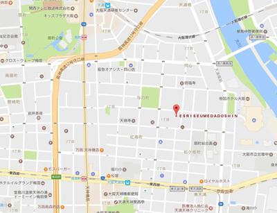 【地図】エスライズ梅田DOSHIN