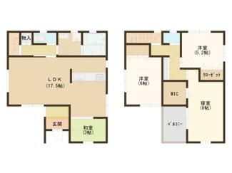 2号棟 建物面積:100㎡ 3LDK+畳コーナー