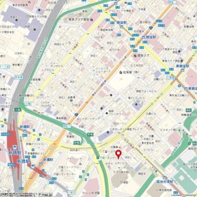【地図】メインステージ銀座