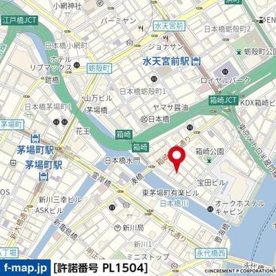 【地図】ハーモニーレジデンス日本橋イースト