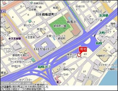 【地図】パレステュディオ日本橋東壱番館