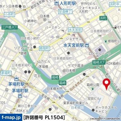 【地図】スカイコート日本橋第2