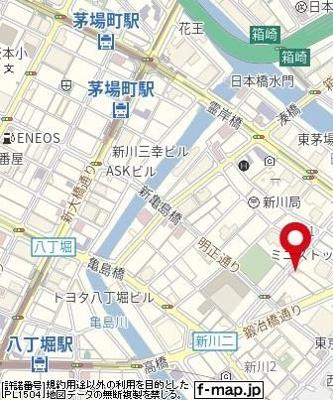 【地図】プレール・ドゥーク八丁堀