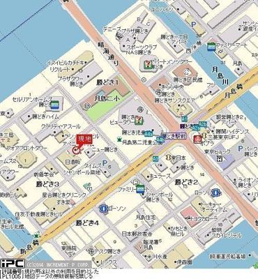 【地図】CORES勝どき