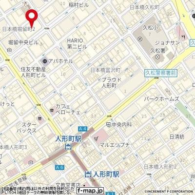 【地図】ファミール日本橋グランスイートプラザ