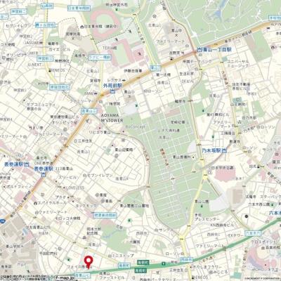 【地図】プラネット南青山