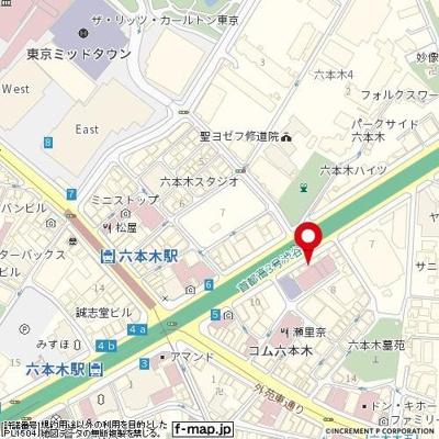 【地図】メインステージ六本木